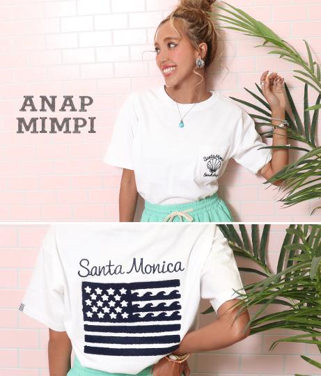 USAコットンサガラ刺繍Tシャツ