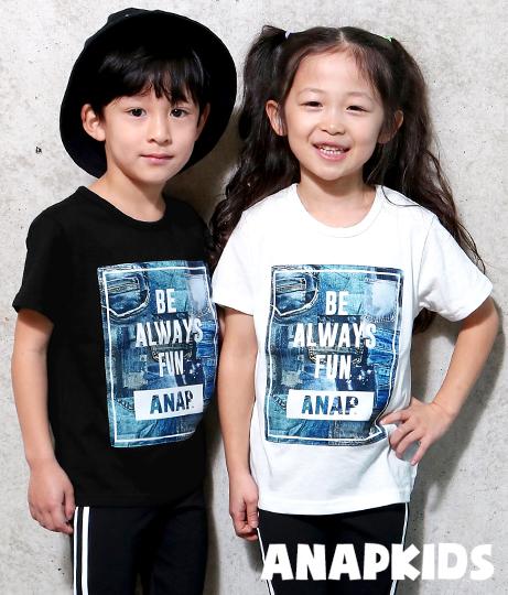 デニムパッチワークTシャツ