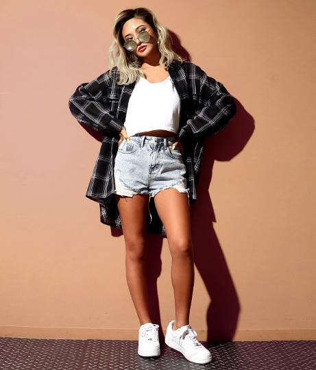 オーバーサイズチェックシャツ | ANAP