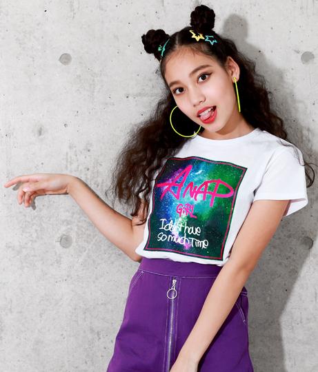 宇宙柄BOXプリントTシャツ(トップス/Tシャツ) | ANAP GiRL