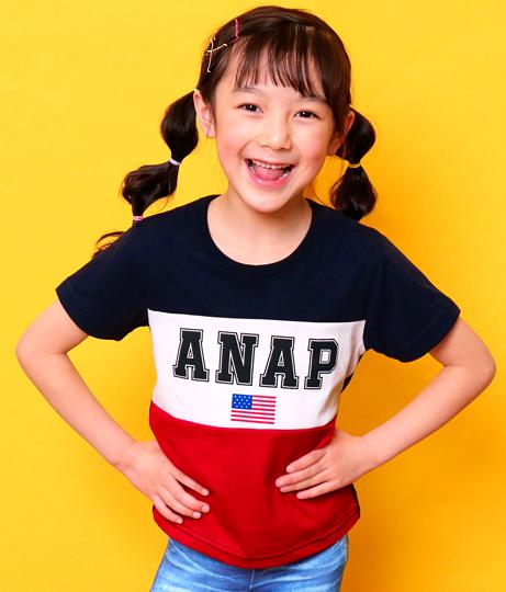 USAフラッグ切替Tシャツ(トップス/Tシャツ)   ANAP KIDS