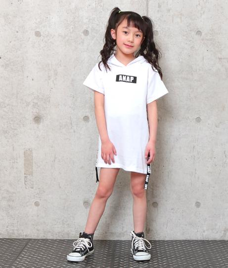 ロゴテープフーディーワンピース(ワンピース・ドレス/ミニワンピ) | ANAP KIDS