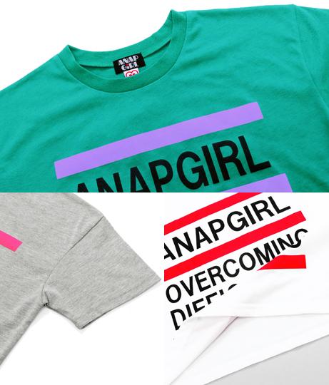 クロップド丈3ラインTシャツ | ANAP GiRL