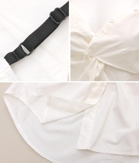 ブラックストラップツイストシャツキャミソール(トップス/キャミソール・シャツ・ブラウス) | anap Latina