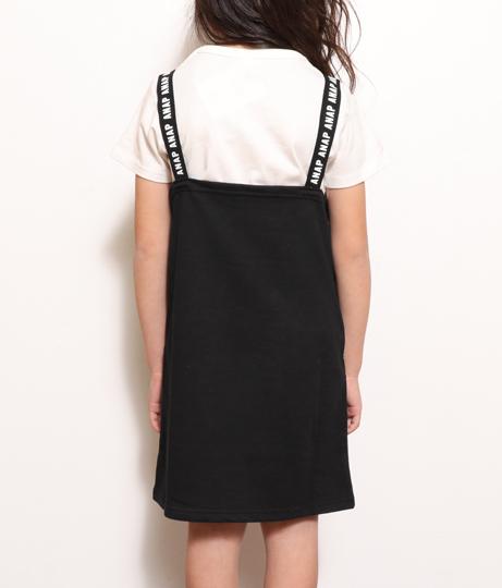 サイドラインジャンパースカート(ワンピース・ドレス/ミニワンピ・サロペット/オールインワン) | ANAP KIDS