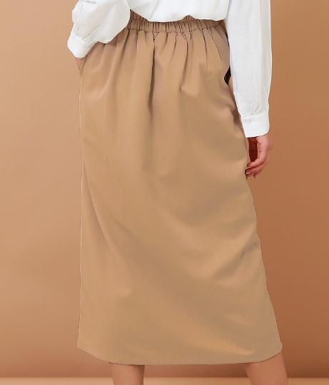 フロントボタンラップスカート(ボトムス・パンツ /ミモレ丈スカート・スカート) | Alluge