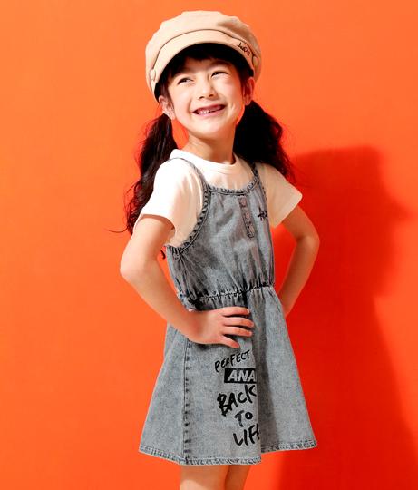 ケミカルデニムキャミワンピース(ワンピース・ドレス/ミニワンピ)   ANAP KIDS