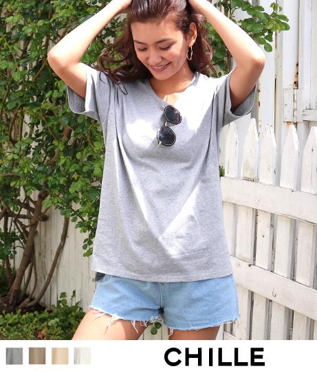 サイドスリットシンプルTシャツ