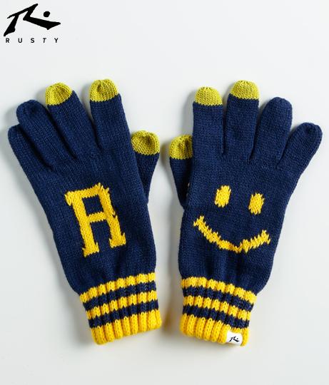 RUSTY レディース ニコちゃん手袋