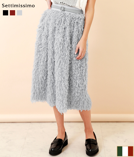 フェザーモチーフフレアースカート