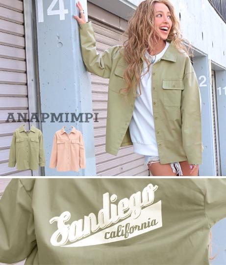 プリントミリタリーシャツジャケット