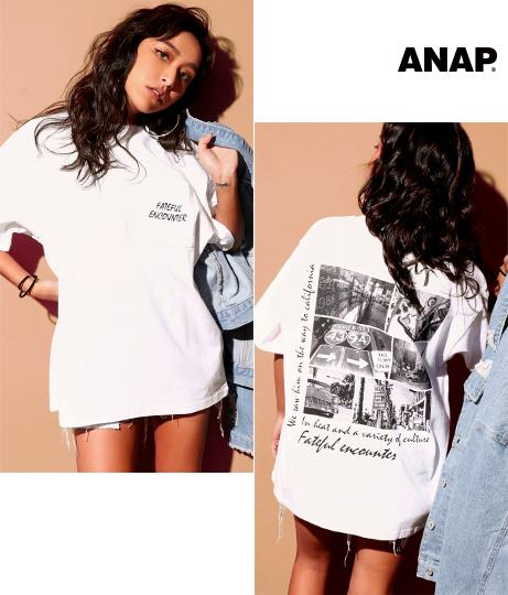 BACKフォトプリントポケット付Tシャツ