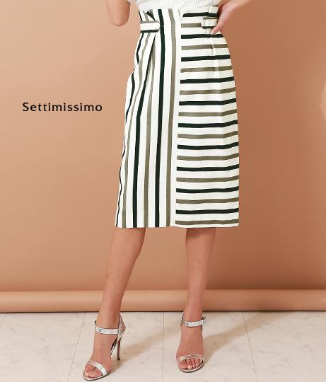 RAWFUDGEストライプフロント切替タイトスカート(ボトムス・パンツ /スカート) | Settimissimo