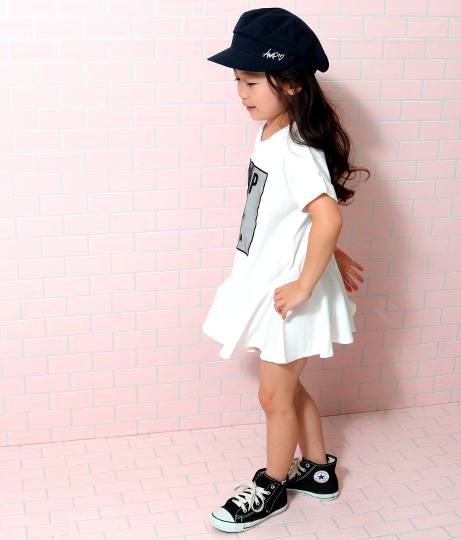 裾切り替えチュールワッペンデザインワンピース(ワンピース・ドレス/ミニワンピ)   ANAP KIDS