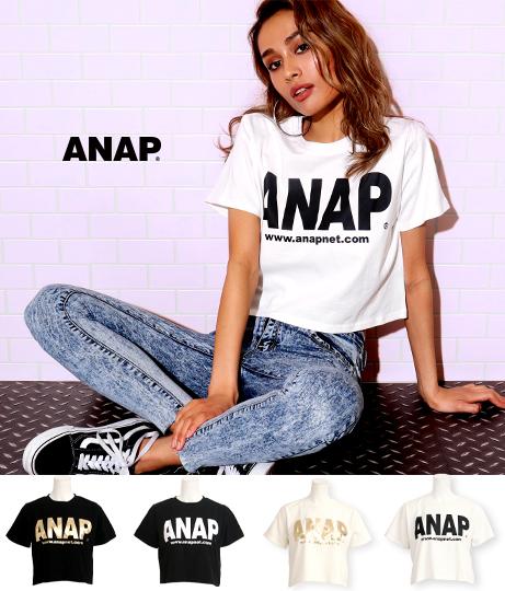ANAPロゴクロップドTシャツ