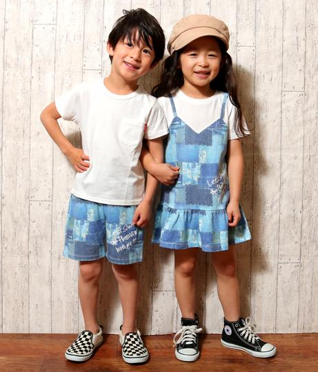 デニム転写ドッキングワンピース(ワンピース・ドレス/ミニワンピ) | ANAP KIDS
