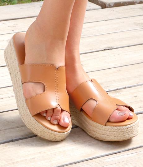 モチーフストラップストローサンダル(シューズ・靴/サンダル) | Anap USA