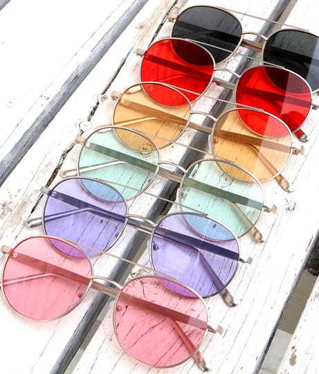 クリアティアドロップサングラス(ファッション雑貨/サングラス)   Anap USA