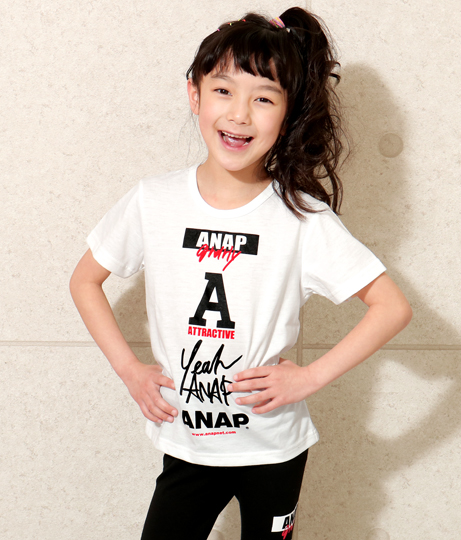 ロゴマークTシャツ | ANAP KIDS