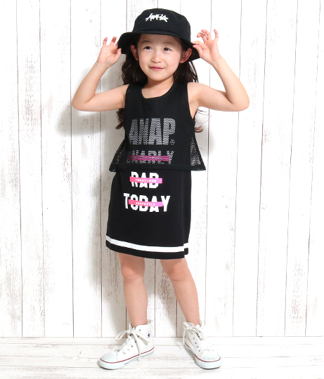 メッシュドッキングタンクワンピース(ワンピース・ドレス) | ANAP KIDS
