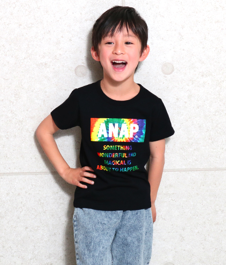 ●タイダイBOXロゴプリントTEE | ANAP KIDS