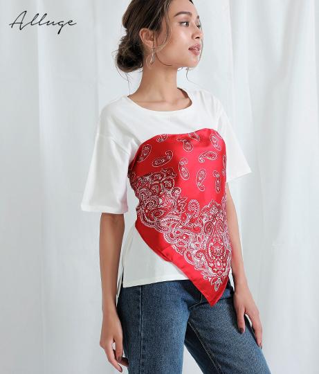バンダナ使いTシャツ(トップス/Tシャツ) | Alluge