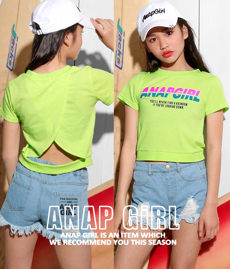配色ロゴデザイントップス(トップス/Tシャツ) | ANAP GiRL