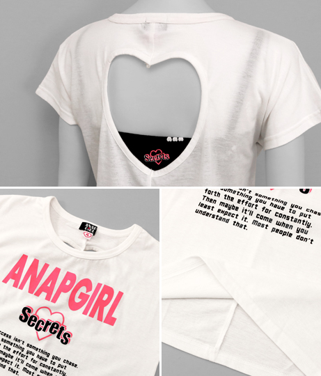 ハートアキTOPS×ロゴキャミSET(トップス/Tシャツ) | ANAP GiRL