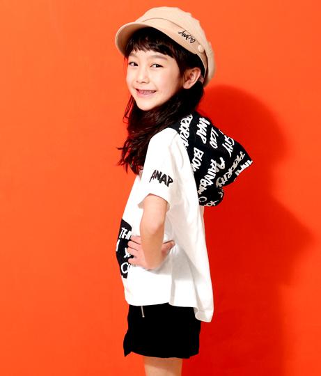 総柄フーディーTシャツ(トップス/Tシャツ) | ANAP KIDS