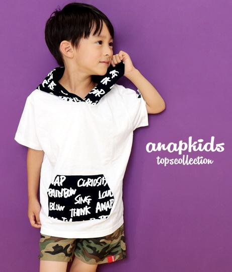 総柄フーディーTシャツ