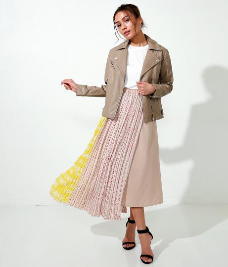 プリントプリーツラップスカート(ボトムス・パンツ /ミモレ丈スカート・スカート) | Alluge