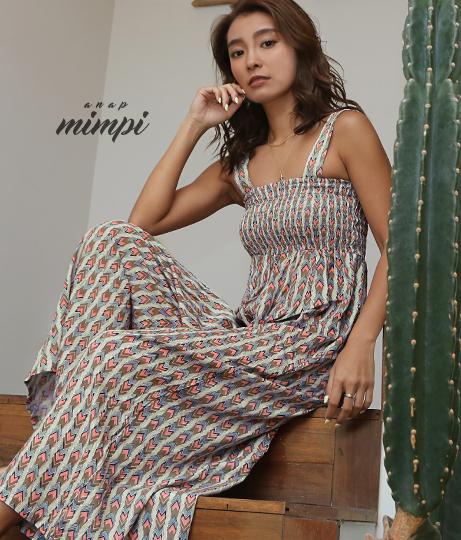 バストシャーリングオールインワン(ワンピース・ドレス/サロペット/オールインワン)   anap mimpi