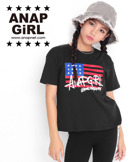 アメリカストリートロゴTシャツ