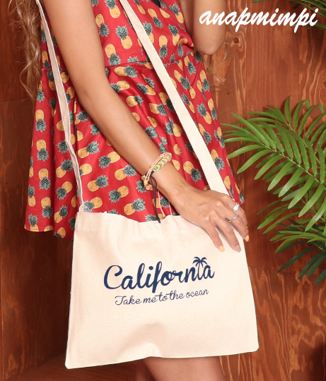 californiaプリントサコッシュバッグ