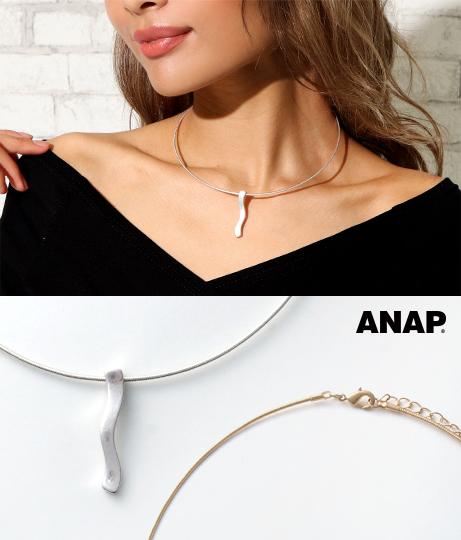 マットウェーブデザインチョーカー(アクセサリー/ネックレス・ペンダント) | ANAP
