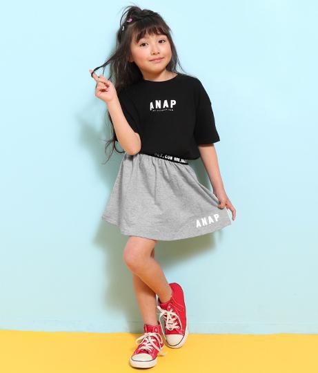 裏毛サイドラインミニスカート(ボトムス・パンツ /スカート)   ANAP KIDS