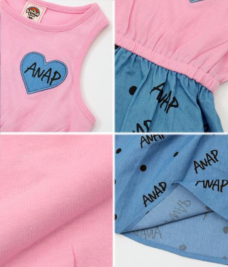 デニムプリントドッキングワンピース(ワンピース・ドレス/ミニワンピ) | ANAP KIDS