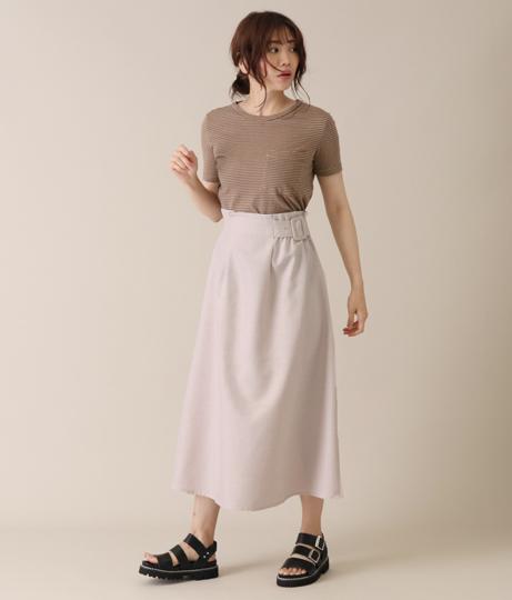 ベルト付アシンメトリースカート(ボトムス・パンツ /スカート)   AULI