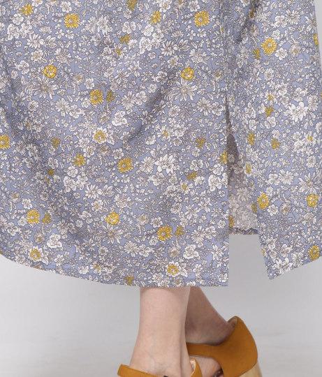 花柄スキッパーワンピース(ワンピース・ドレス/ロングワンピ) | AULI