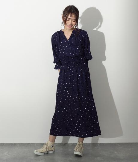 ドットスキッパーワンピース(ワンピース・ドレス/ロングワンピ) | AULI