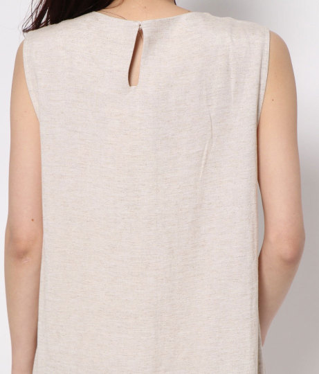 裾タックリネンワンピース(ワンピース・ドレス/ロングワンピ) | AULI
