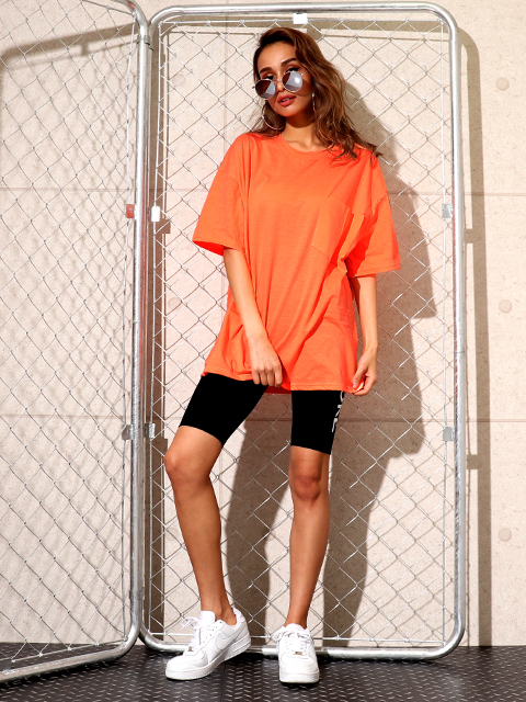 ネオンカラーオーバーサイズTシャツ