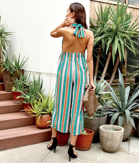 マルチストライプホルターネックオールインワン(ワンピース・ドレス/サロペット/オールインワン) | Anap USA