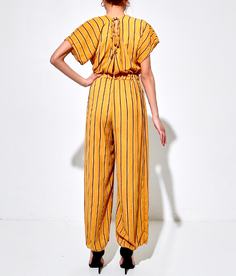 バックリボンストライプオールインワン(ワンピース・ドレス/サロペット/オールインワン) | Anap USA