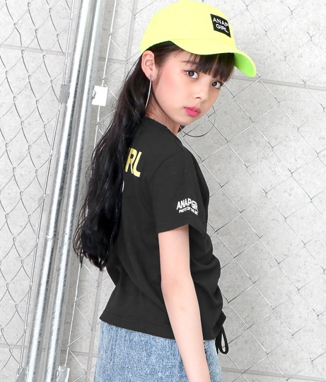 BACKプリントギャザートップス(トップス/Tシャツ・シャツ・ブラウス)   ANAP GiRL