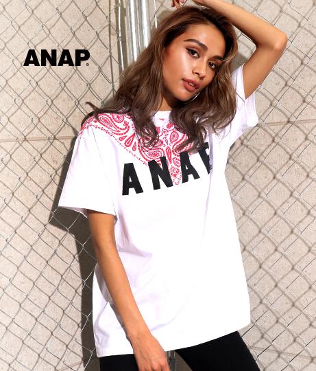ANAPロゴペイズリーTシャツ