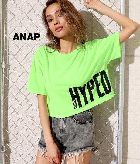 ネオンカラープリントクロップドTシャツ