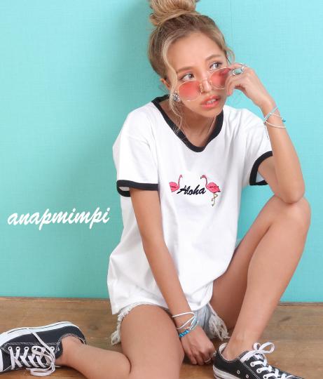 フラミンゴリンガーTシャツ