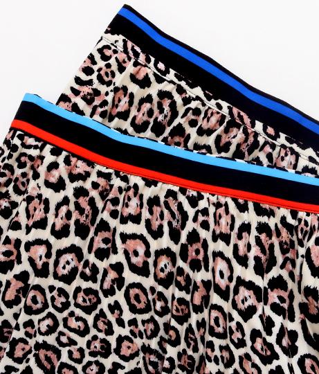 ウエストラインレオパード柄プリーツスカート(ボトムス・パンツ /ミモレ丈スカート・スカート) | Settimissimo