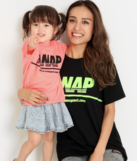 NEONカラーカットオフBIGTee(トップス/Tシャツ)   ANAP KIDS